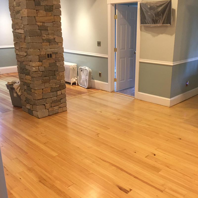 vertical heart pine flooring