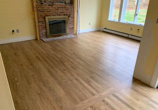Red Oak Floor in Eliot, Maine