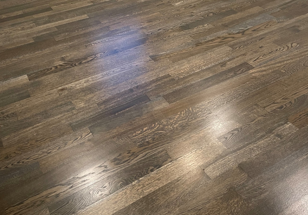 White Oak Floor with Driftwood Stain